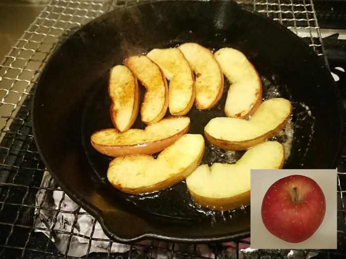おうちでキャンプ飯焼きリンゴならぬリンゴソテーバターだけで旨い